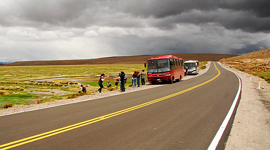 Bus Ride From Chivay/Colca canyon To Puno/ Lake Titicaca