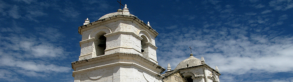 Tower Of Church In The Colca Canyon