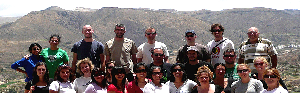 Travelers Touring In The Colca Canyon