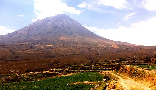Misti view from the Countryside of Arequipa - Half Day Trek In Arequipa