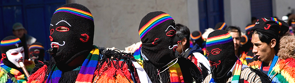 Peruvian Festivities In The Andes Of Latin America
