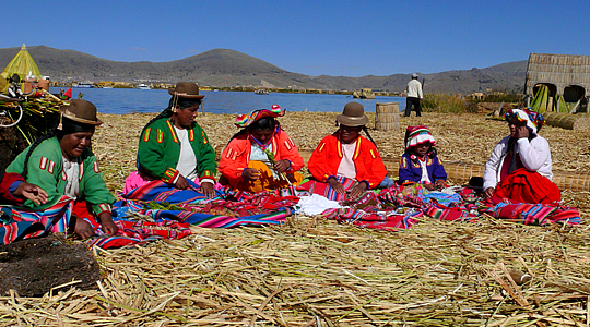 Women Of Uros Floating Islands