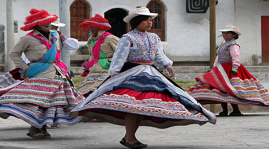 Collahuas Couple Dancing The Wititi In The Colca Canyon